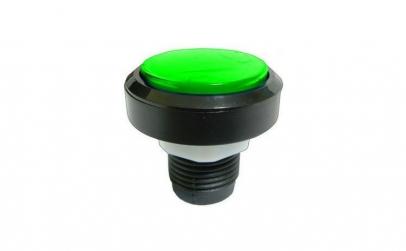 Push buton fara retinere, verde, 15A,