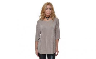Bluza Dama Plisata Bej - Eranthe VE140