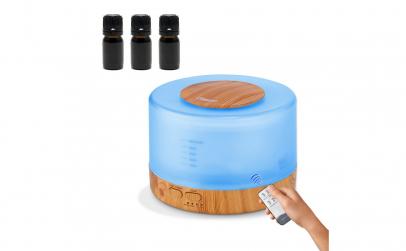 Set Difuzor aromaterapie cu telecomanda