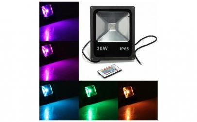 Proiector LED SMD, 30W, IP65, RGB