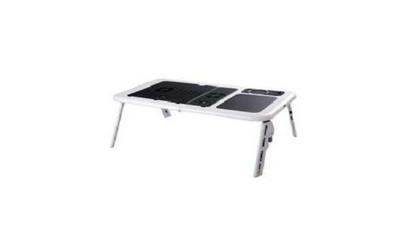 Masuta laptop E-Table: 2 coolere + suport pahar + mousepad, la doar 54 RON in loc de 134 RON