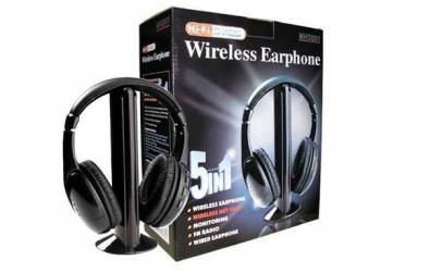 Casti wireless 5 in 1 microfon si radio