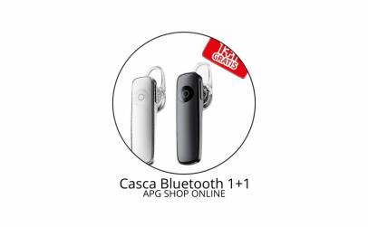 Casca Bluetooth 1+1 Cadou