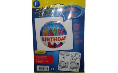 Balon folie Happy Birthday