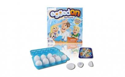 Joc tip ruleta Egged on, pentru copii,
