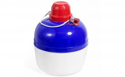 Recipient pentru apa, alb/albastru, 5L