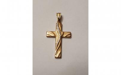 Crucifix din aur, 14K
