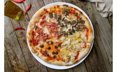 Pizza Quattro Stagioni 40 cm (Cuptor cu