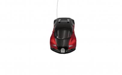 Masina cu telecomanda,negru/rosu
