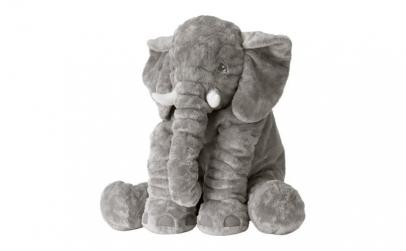 Jucarie de plus, elefant, gri