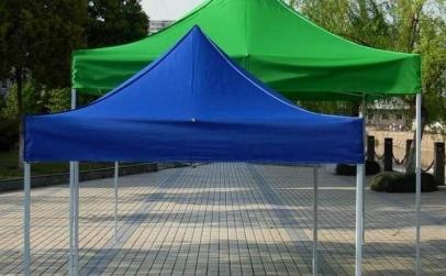Cort Pavilion 2 x 2 M Albastru, Rosu
