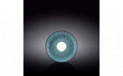 Farfurie cafea Splash Blue 14 cm