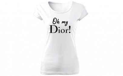 Tricou de dama ALB Oh My Dior COD TD033