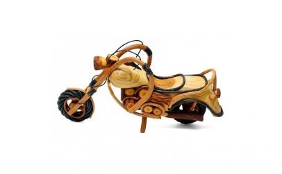 Motocicleta din lemn 41 cm