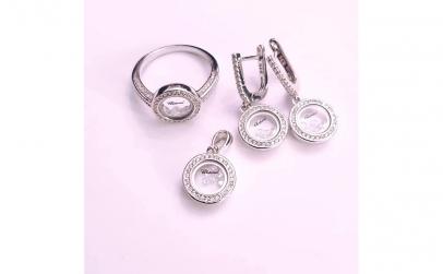 Set bijuterii din Argint cu Swarovsky