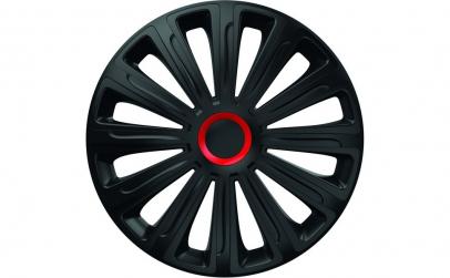 Set capace roti 14` negre cu inel rosu t