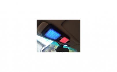 Stroboscop parasolar rosu/albastru