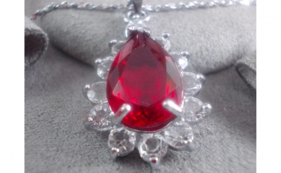 Colier pandantiv Red - cristale zirconiu