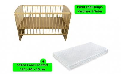 Patut KLUPS Karolina II Natur + Saltea