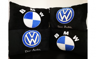 Set 2 perne auto diverse logo-uri