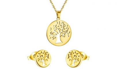Set bijuterii Gold Tree cu Au 18K
