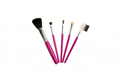 Set pensule pentru machiaj, roz
