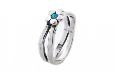 Inel argint 925 Israel floare cu opal