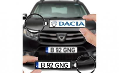 Breloc numar auto Dacia