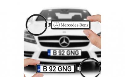 Breloc numar auto Mercedes