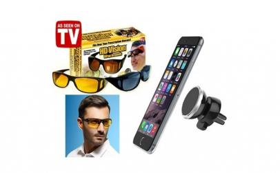 2 ochelari HD + Suport magnetic telefon