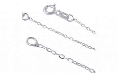 Lant argint 925 cu zale ovale 45 cm