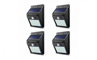 Set 4 lampi solare 30Led cu senzor