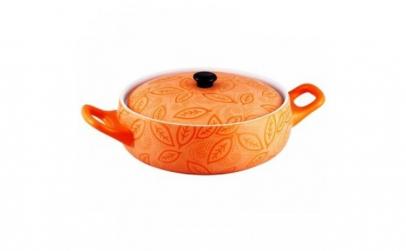 Cratita ceramica rotunda cu capac,2