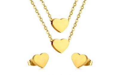Set bijuterii Eternal Love cu Au 18K