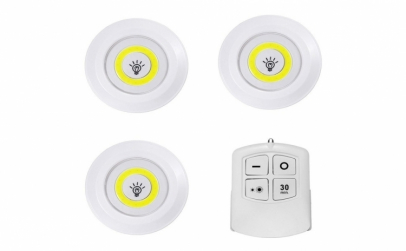 Set 3 lampi LED wireless