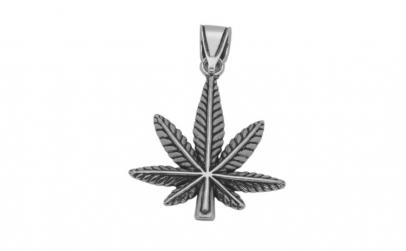 Pandantiv argint 925 oxidat frunza de
