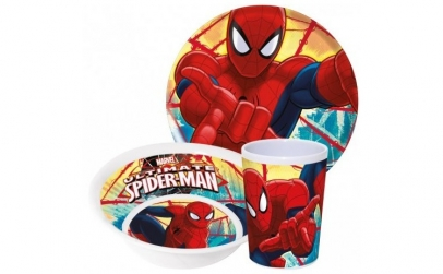 Set farfurie, castron si cana Spiderman
