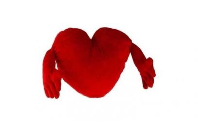 Perna inima rosie cu brate