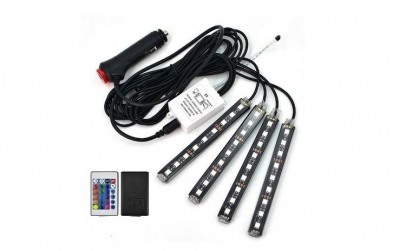 Kit 4 benzi LED, lumina ambientala auto