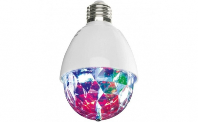 Bec rotativ LED tip glob disco, E27,