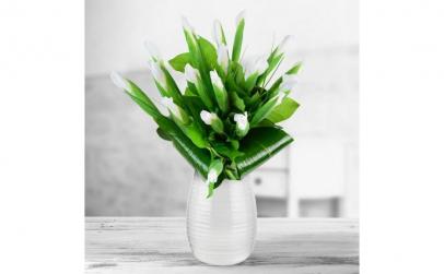 Buchet de 19 irisi albi