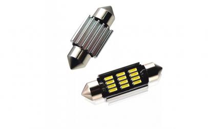 set 4 led  2x t10 w5w + 2x c5w 39mm