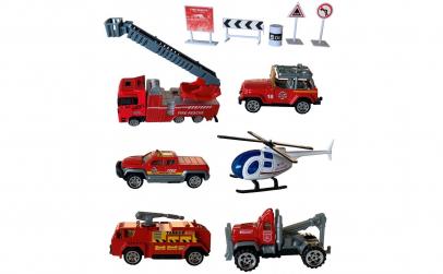 Set Pompieri, 6 Vehicule Metalice
