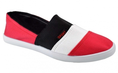 Espadrile barbatesti rosii 3 stripes