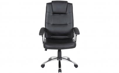 Scaun birou din piele, negru