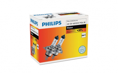 Set 2 becuri far H4 Philips