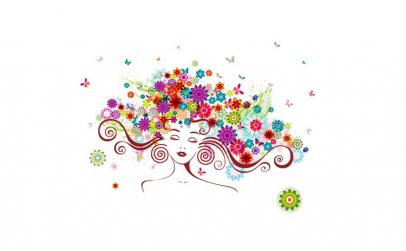 Sticker decorativ, Girl butterfly