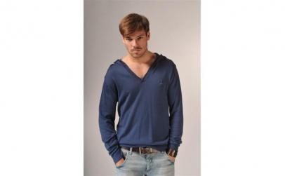 Bluza cu gluga V-neck navy