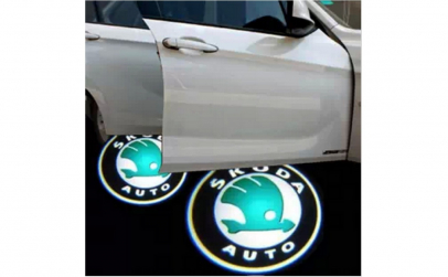 Lampi led logo portiere universale Skoda