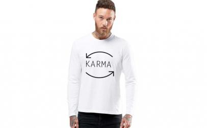 Bluza barbati alba - Karma
